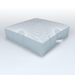 mathematical rotating roses - ice gray Outdoor Floor Cushion