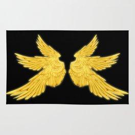 Golden Archangel Wings Rug