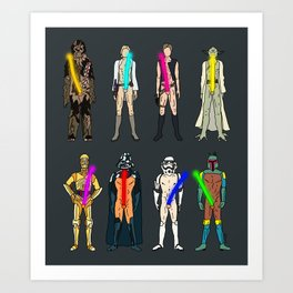 Naughty Lightsabers - Dark Art Print
