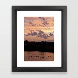 Babylon, New York Sunset Framed Art Print