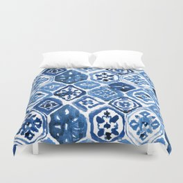 Arabesque tile art Duvet Cover