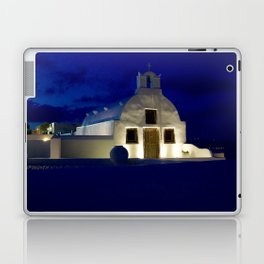 Santorini Chapel During Sunrise  Laptop & iPad Skin