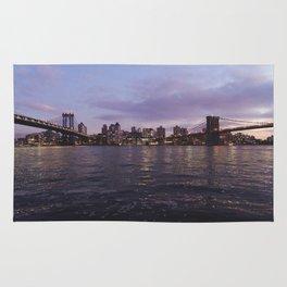 Between Two Iconic New York Bridges Rug