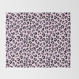 Leopard Print - Lavender Blush Throw Blanket