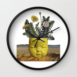 realismo magico - yellow Wall Clock