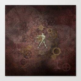 Steampunk Zodiac  Libra Canvas Print