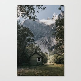 Mountain Cabin - Landscape and Nature Photography Canvas Print