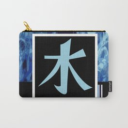 Water Kanji - Mizu in blue Carry-All Pouch