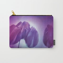 4 purple tulips on watercolor Carry-All Pouch