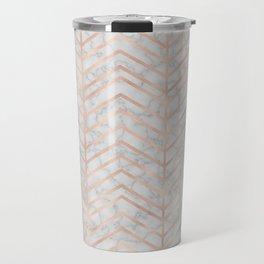 Marble With Zig Zag Travel Mug