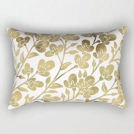Cherry Blossoms – Gold Palette Rectangular Pillow