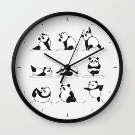 Panda Yoga Wall Clock