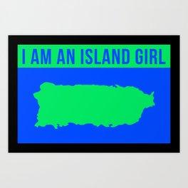 Puerto Rico Island Girl Art Print