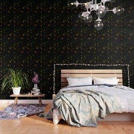 Dandelion Seeds Aromantic Pride (black background) Wallpaper