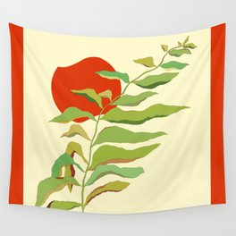 Red Sun Wall Tapestry
