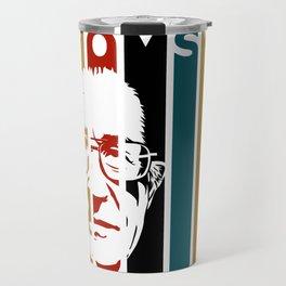 Noam Chomsky Retro Homage Travel Mug