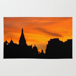 London Sunset in sillouette bywhacky Rug