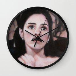 Portrait of Sarah Silverman Wall Clock