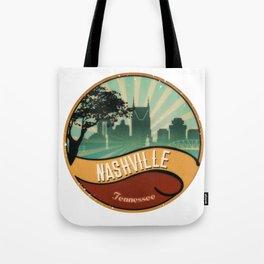 Nashville City Skyline Tennessee Retro Vintage Design Tote Bag