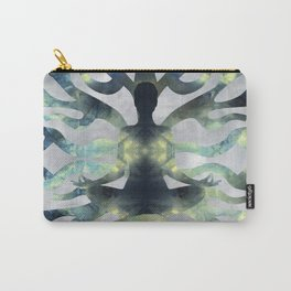 Yoga in Translucent Agate and Mother of pearl Carry-All Pouch