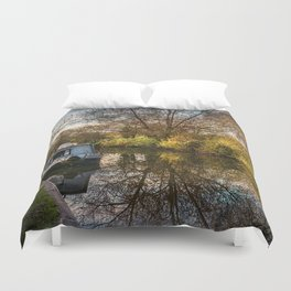 An Autumn Afternoon At Hungerford Duvet Cover
