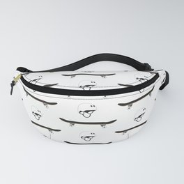 Skateboard and Helmet Pattern Fanny Pack