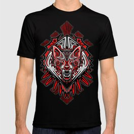 Wolf Tattoo Style Haida Art T-shirt