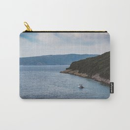 Boat leaving Valbiska bay Carry-All Pouch