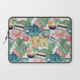 Lazy Afternoon - a chalk pastel illustration pattern Laptop Sleeve