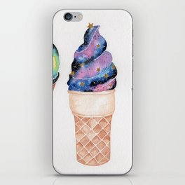 """Cosmic Cones"" Galaxy watercolor painting iPhone Skin"