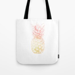 Pink and Yellow Pineapple Tote Bag