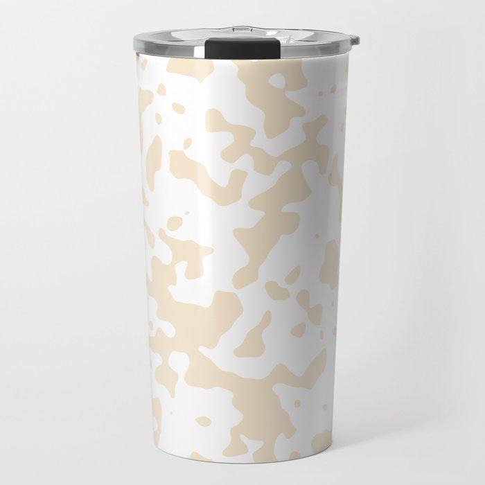 Spots - White and Champagne Orange Travel Mug