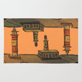 In Love with the Sea / Lighthouses Fuencaliente Rug