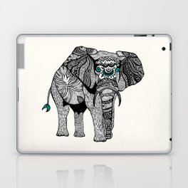 Tribal Elephant Black and White Version Laptop & iPad Skin