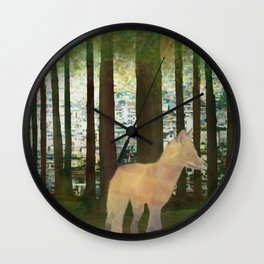 Renard roux  Wall Clock
