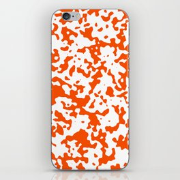 Spots - White and Dark Orange iPhone Skin