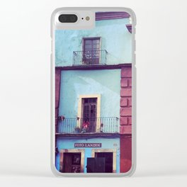 Mexican houses Clear iPhone Case