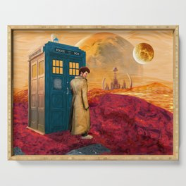 Time Traveller at Gallifrey Planet Serving Tray