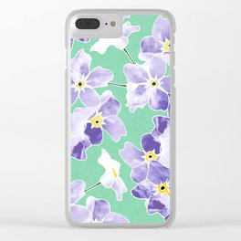 Forget Me Nots Print Clear iPhone Case