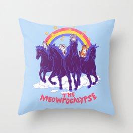 Four Horsemittens Of The Meowpocalypse Throw Pillow