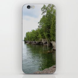 Cave Point County Park iPhone Skin
