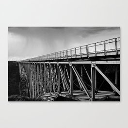 Metal and Sky Canvas Print