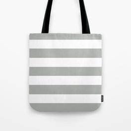Silver foil - solid color - white stripes pattern Tote Bag