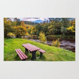 Snowdonia River Autumn Rug