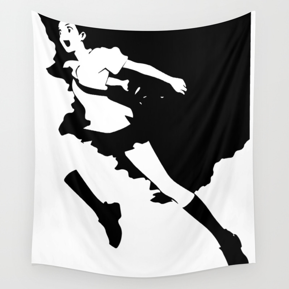 The Girl Who Leapt Through Time Wall Tapestry by Jacobcmorgan TPS8364965