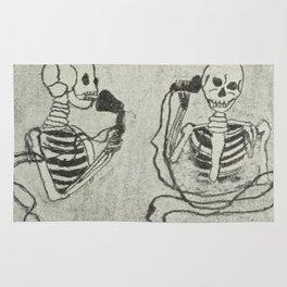 Skeleton's telephone. Rug