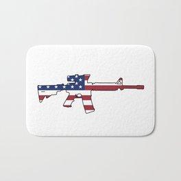 American Flag: M4 Assault Rifle Bath Mat