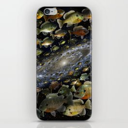 Bluegills Swim in Cosmic Pond iPhone Skin