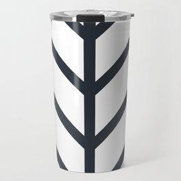 Leaf White Travel Mug