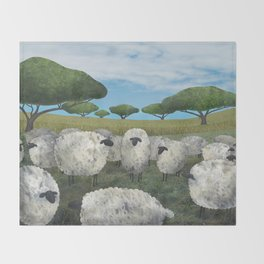 greener pasture Throw Blanket